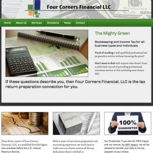Four Corners Financial Website Screenshot